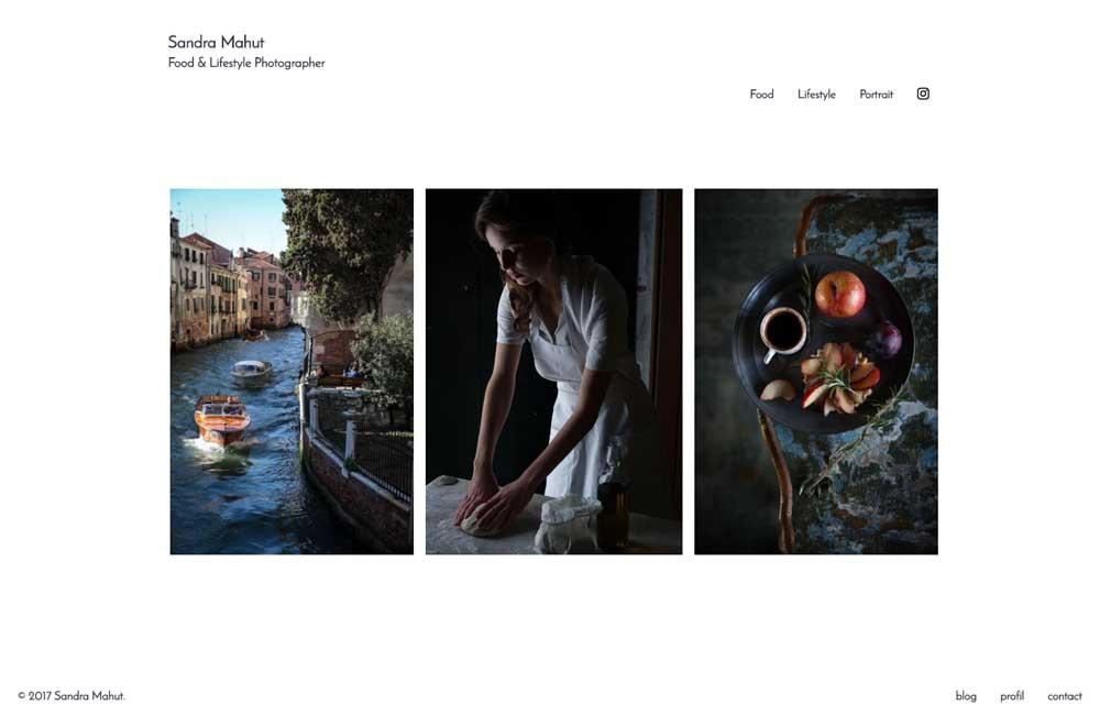 Ce projet présente la conception de l'identité graphique pour le site web de Sandra Mahut. Il s'inspire de l'épure des photos et des livres de l'artiste photographe culinaire. La recherche d'un cadre neutre pour trouver l'expression la plus juste, laissant les photos et leurs intentions s'exprimer elles-mêmes.